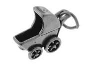 Sterling Silver Baby Carriage Charm