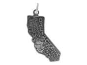 Sterling Silver California State Charm