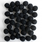 Felted Wool Bead 40 Piece Colour Packs- 40 Black