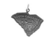 Sterling Silver South Carolina State Charm
