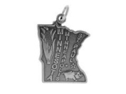 Sterling Silver Minnesota State Charm