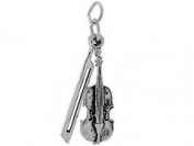 Sterling Silver Violin and Bow Charm