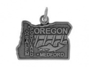 Sterling Silver Oregon Charm