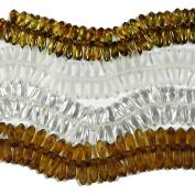 160 Czech Glass Dagger Drop Beads 3x11mm 4 Colour Mix Crystal, Crystal Matt, Picasso & Picasso Matt