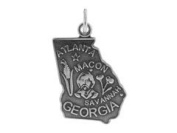 Sterling Silver Georgia State Charm