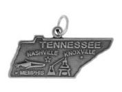 Sterling Silver Tennessee State Charm