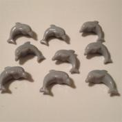 100 Dolphin Beads - Grey