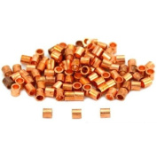 100 Crimp Tube Beads Jewellery Beading Copper Plated Part