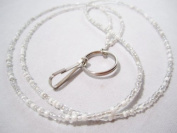 White and Silver Beaded Lanyard