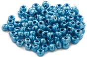 Beaders Paradise LT6E327 Czech Glass Blue Metallic 6/0 E-Beads in a Tube