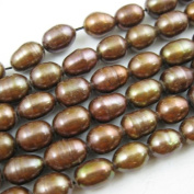 Freshwater Pearls 6-7mm Rice Shape Chocolate Colour