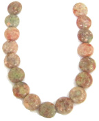 Bead Collection 40424 Chinese Unakite Green Beads, 15cm