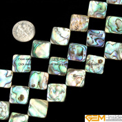 Gem-Inside 8mm Square Natural Abalone Shell Beads Strand 15 Inches