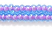 Preciosa Ornela Czech Seed Bead, Colour Lined Blue/Amethyst, Size 6/0