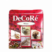 Decore' White Self-hardening, Jewellery Craft Two-part Epoxy Clay Kit, 20 Grammes