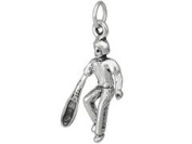 Sterling Silver Lacrosse Player Charm