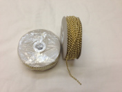3mm Faux Pearl Plastic Beads on a String Craft Roll - Metallic Gold, Total 2 Rolls