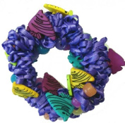 Hair Scrunchy UV Colour Changing! Purple with Angel Fishes!