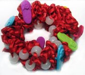 The Original Solaractive® UV Colour Changing Scrunchy! Red with Sandals!