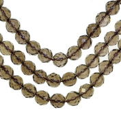 Smokey Quartz 8mm Faceted Round Beads Genuine Natural Strand 15.25""