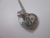 "Initially Hers ""W"" Photo Locket Necklace"