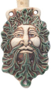 Peruvian Hand Crafted Ceramic Green Man Bottle Pendant, 36 by 60mm