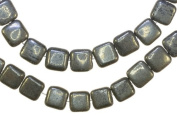 Pyrite Square Small Beads Natural Genuine Strand 9mm 15.5 Inch