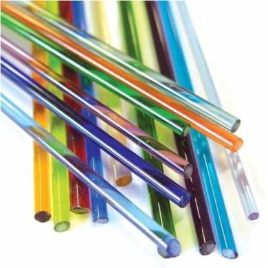 Fireworks Variety Colour Transparent Glass Rods, Set of 15