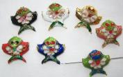 50 18x18mm Mixed Handmade Fish Cloisonne Beads