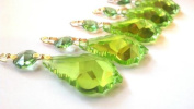5 Pack Chandelier Crystal Spring Green 50mm French Cut Prism Ornaments