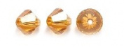 . Elements 5328 Xilion Bicone Diamond Beads, Transparent, Topaz, 6-mm, 24/Pack