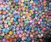 200 Fimo Polymer Clay Round Beads Size 8mm Assorted Colours
