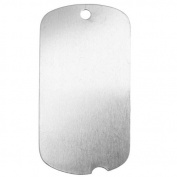 Sterling Silver Blank Stamping Notched Dog Tag Pendant 42x22mm