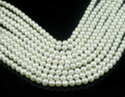 A Lustrous Natural Full Round Pearls String / Strand of 6mm - 7mm Beads From India