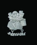 Shopaholic Pewter Pin