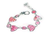 Viva Beads Pink Paradise Bracelet | Heart Medallion | - Handmade Clay Beads Jewellery 05403522