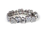 Viva Beads Black Tie Affair Bangle | Pebble Heart | - Handmade Clay Beads Jewellery 05420124