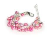 Viva Beads Pink Paradise Bracelet | Beaded Mesh Chain | - Handmade Clay Beads Jewellery 05407022