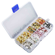 BEADNOVA-500pcs 10 Colour Mix Lot Crystal Rondelle Spacer Bead Box Set Value Pack 8mm