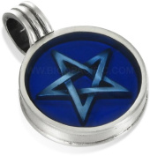 Pentagram Bico Pendant - Blue