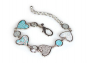 Viva Beads White Sand Bracelet | Heart Medallion | - Handmade Clay Beads Jewellery 05403523