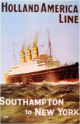 Poster 'Holland America Line, Southampton To New York'