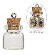 20 Mini Glass Bottles 3/4 inch (20x19mm) Message Treasure Charm Pendant Kit Makes 20 Bottle Pendants
