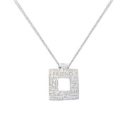 Alexa's Angels Friend Square Wallpaper Necklace