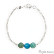 """33786-7 7"""" Handmade Bracelet with Faceted Fire Agate Bar Bracelet Hand Arm Chain Silver Sterling 0.925 Mms"""
