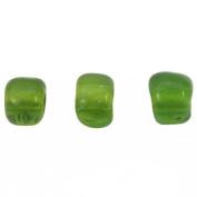 Green Glass Seed Beads Loose Beading 6/0 Approx 1 Kilo