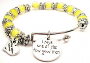 I Have One of the Few Good Men Glass Beaded Adjustable Bangle Bracelet Chubbychicocharms