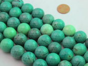 "Green Chrysoprase Beads Gemstone 18mm Facted Round 22pcs 15.5"" Strand Finding Charms Jewellery Making & design Beading"