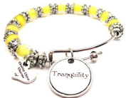Tranquilly Glass Beaded Adjustable Bangle Bracelet ChubbyChicoCharms
