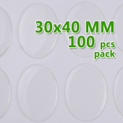 Jewellery Making Accessories- 30*40mm Oval Transparent Epoxy Domes Resin Cabochon Sticker,thick About 1.3mm 100pcs/lot